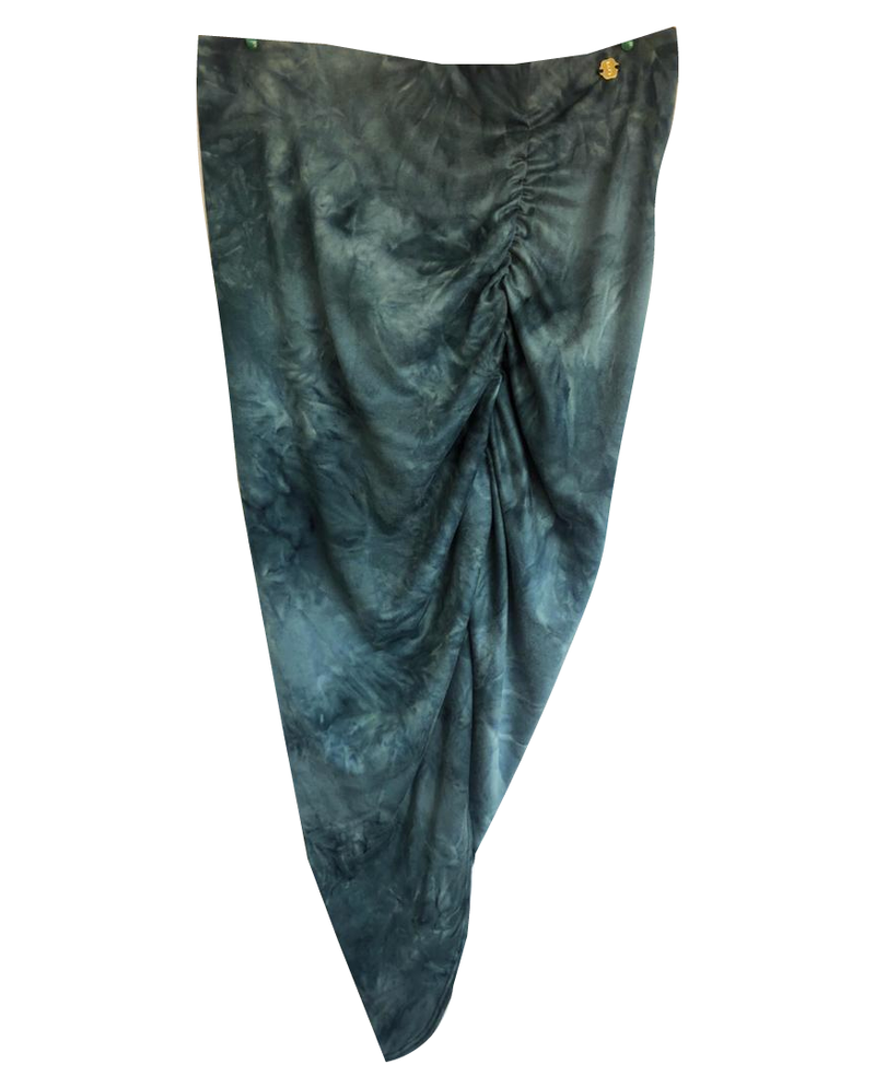 Semi-Long Skirt Tie Dye Green