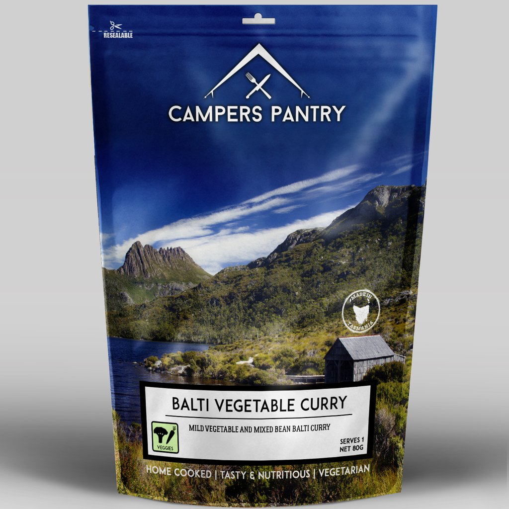 Campers Pantry Mains (1 Serve, Balti Vegetable Curry)