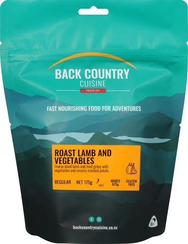Back Backcountry Roast Lamb & Veges (1 Serve)