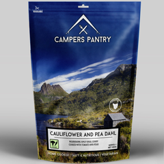 Campers Pantry Main Meals (1 Serve, Cauliflower & Pea Dahl)