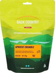 Backcountry Cuisine Apricot Crumble Back Backcountry Apricot Crumble