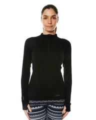 XTM Ladies Merino Thermal Zip Top (14,Blk)