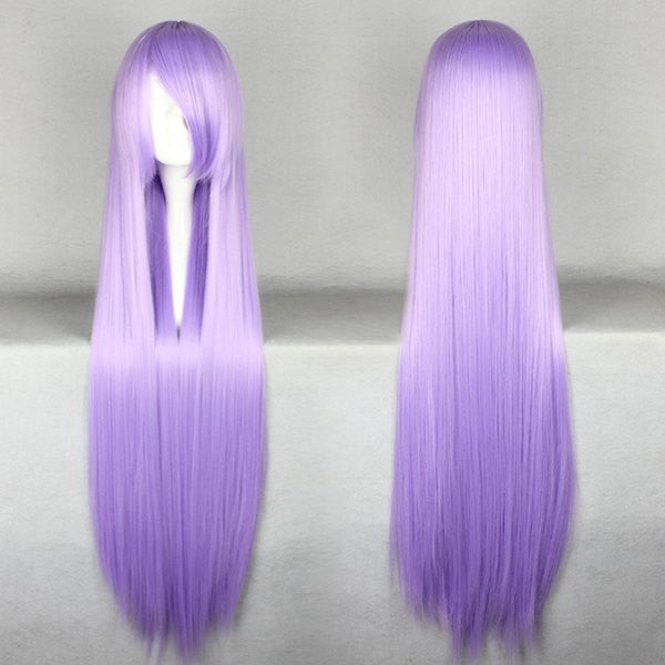 100cm Long Gin Tama-Sarutobi Ayame light purple Cosplay anime Wig,Colorful Candy Colored synthetic Hair Extension Hair piece 1pcs WIG-018M