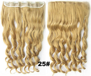 Clip in synthetic hair extension hairpieces 5 clips in on wavy slice hairpiece GS-888 25#,60cm,130grams 1PCS