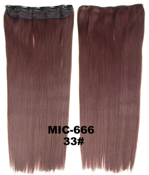 "Wig,Hair Extension,Clip in synthetic hair extension,5 clips ponytail,Heat resistance synthetic fibre,MIC-666 33#,100 g 24 "" 1PCS"