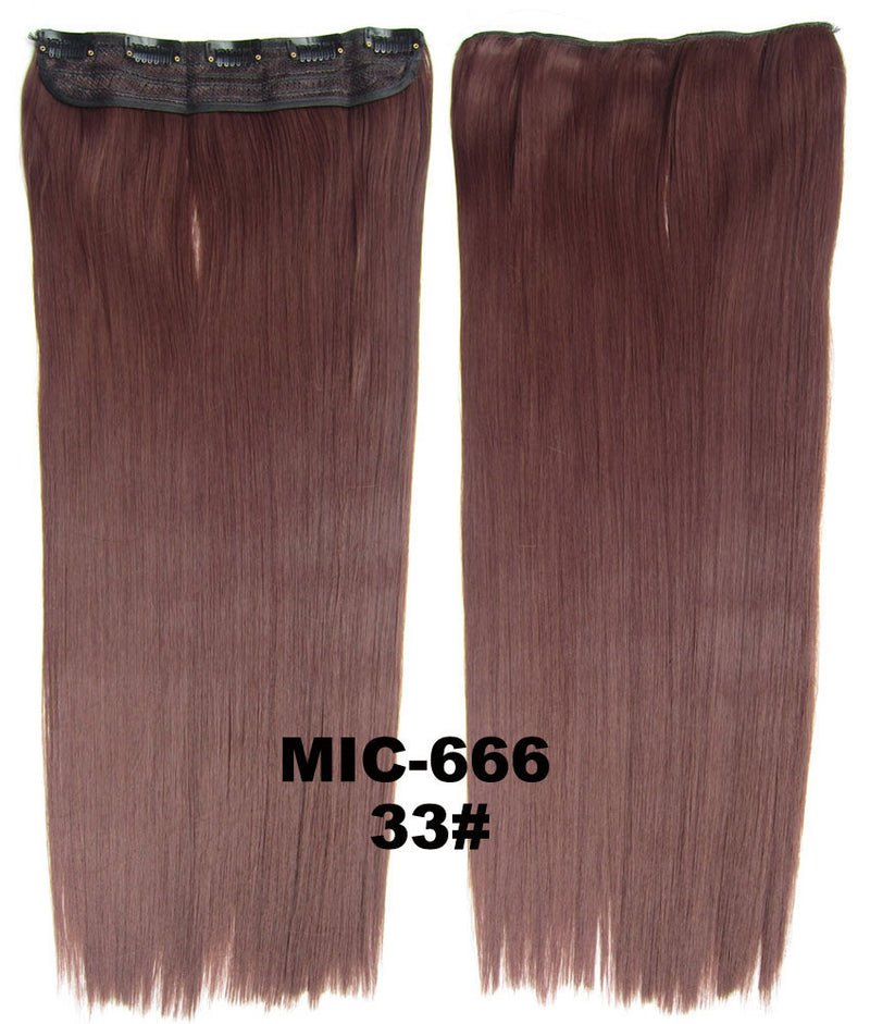 Wig,Hair Extension,Clip in synthetic hair extension,5 clips ponytail,Heat resistance synthetic fibre,MIC-666 33#,100 g 24