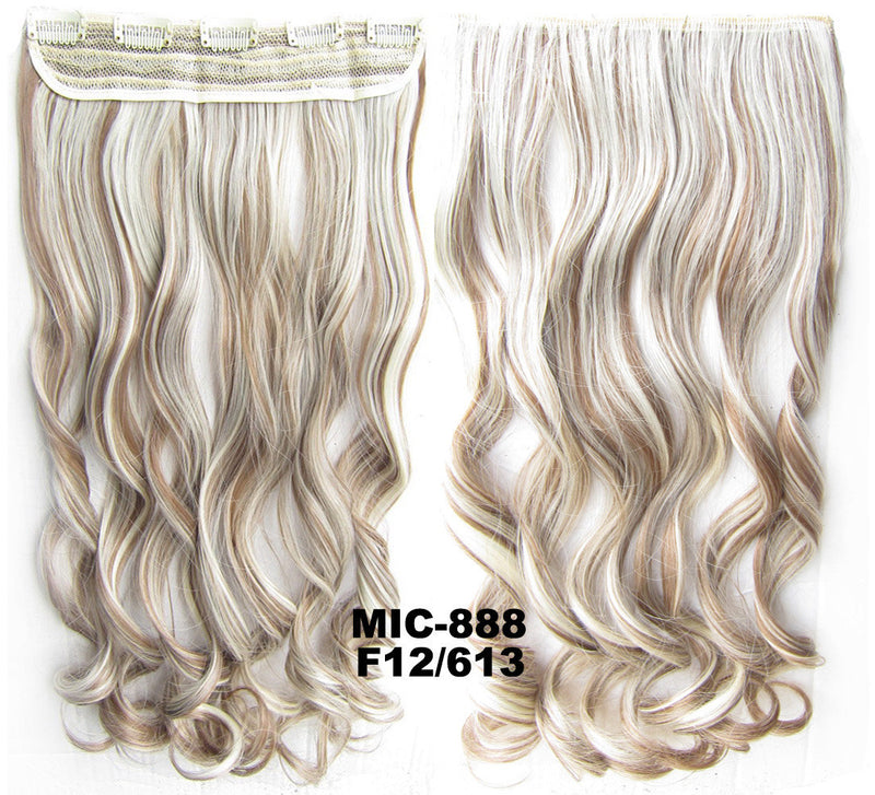 Bath & Beauty 5 Clip in synthetic hair extension hairpieces wavy slice curly hairpiece MIC-888 F12/613,Hair Care,fashion Cosplay ombre 1PCS