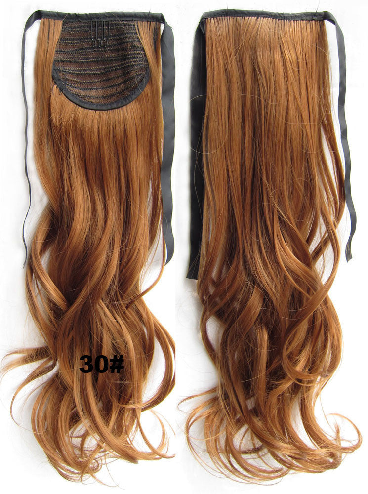 30# Curly hair,wavy Wig Hairpiece,Ribbon Ponytail,synthetic hair wig,woman wigs,wig hairs,Accessories,High-temperature wire RP-888