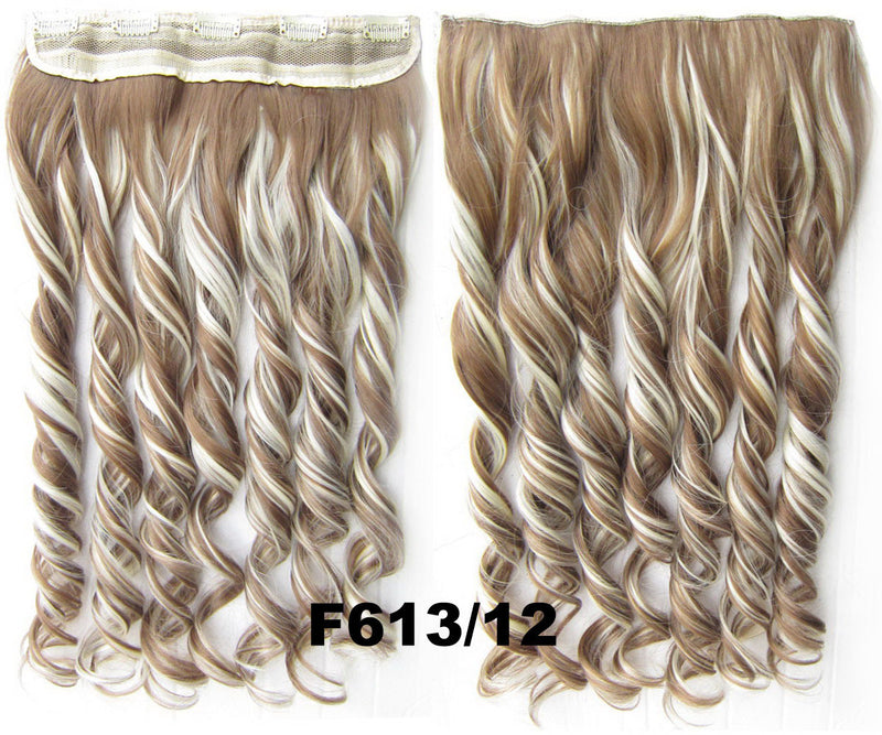 Clip in synthetic hair extension hairpieces 5 clips in on wavy slice hairpiece GS-888 F613/12,60cm,130grams 1PCS