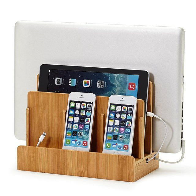 Bamboo Multi-Device Charging Station & Dock