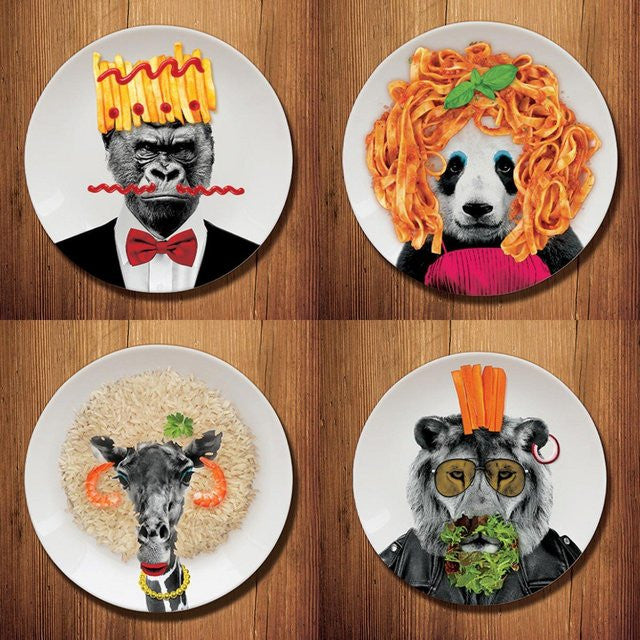 Dining Ceramic Animal salad Plates