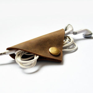 Handmade Leather Cable Cord Winder Holder