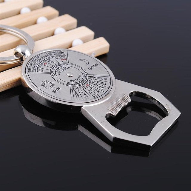 50 Years Perpetual Calendar Bottle Opener