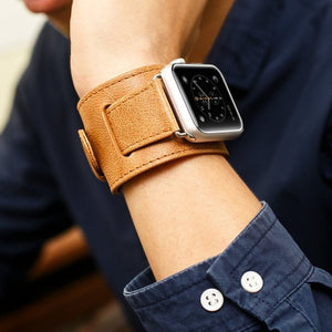 Bracelet Style Genuine Leather Apple Watch Band