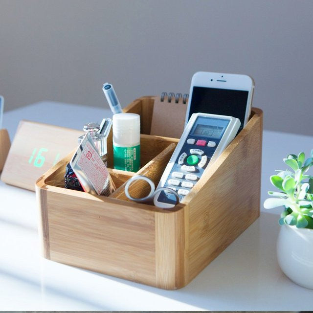 Wood Controller Organizer Holder