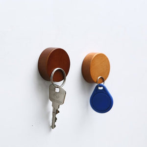 Wall Mounted Magnetic Wooden Key Holder