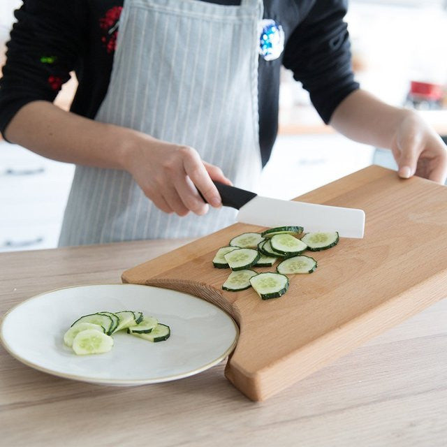Wooden Cutting Board with Storage