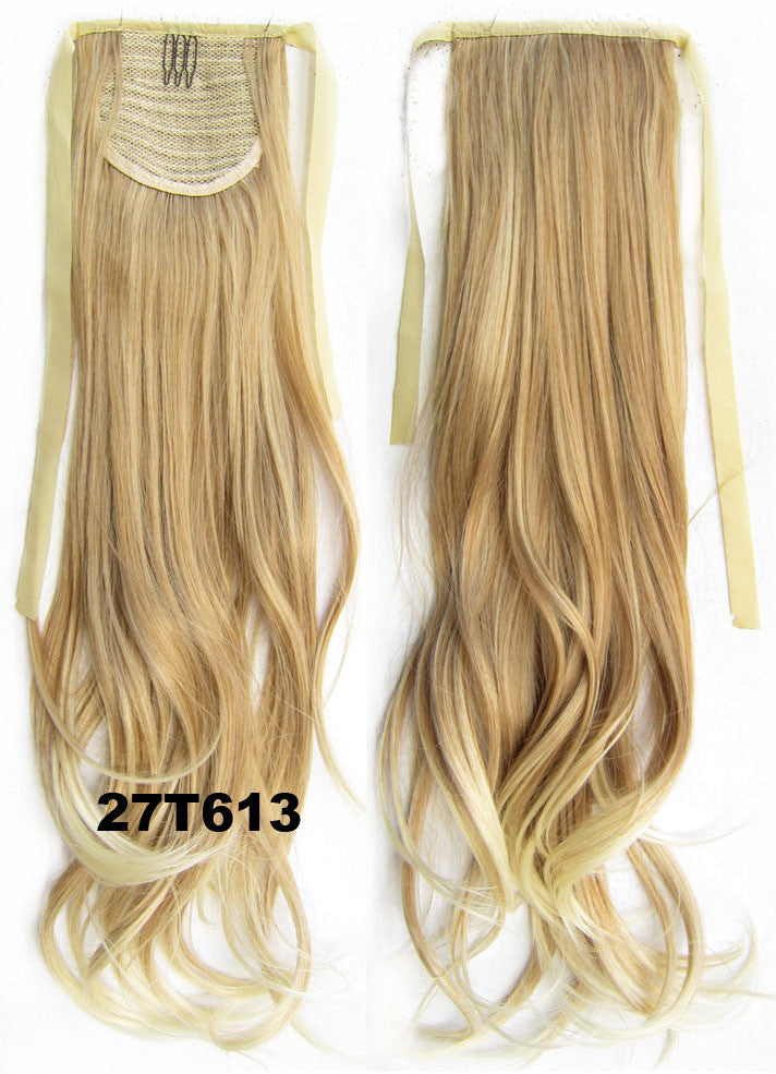 27T613 Curly hair,wavy Wig Hairpiece,Ribbon Ponytail,synthetic hair wig,woman wigs,wig hairs,Accessories,High-temperature wire RP-888