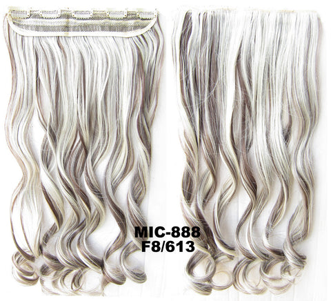Bath & Beauty 5 Clip in synthetic hair extension hairpieces wavy slice curly hairpiece MIC-888 F8/613,Hair Care,fashion Cosplay ombre 1PCS
