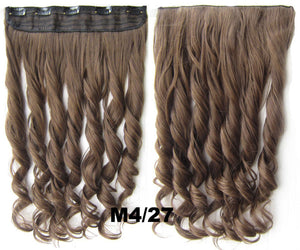 Clip in synthetic hair extension hairpieces 5 clips in on wavy slice hairpiece GS-888 M4/27,60cm,130grams 1PCS