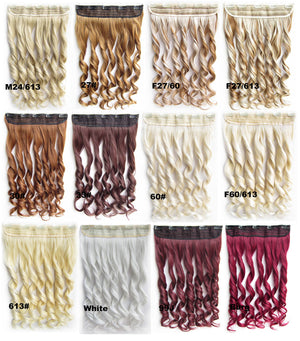 Bath&Beauty Clip in synthetic hair extension hairpieces 5 clips in on wavy slice curly hairpiece GS-888 M27/60,Hair Care,fashion COSPLAY ombre 1PCS