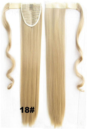 Hot sell European fashion style clip in on Velcro wrap straight hair ponytail invisable hairpieces,Hair Extension,Ponytail with band,Ribbon Ponytail,Wig Hairpiece,synthetic hair wig,woman wigs,wig hairs,Bath & Beauty,Accessories BIP-666 18#