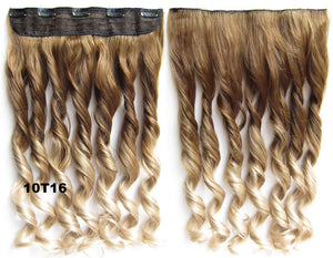 "Dip dye hairpieces New Fashion 24"" Women Clip in on gradient wig Bath & Beauty Hair Ombre Hair Extensions Two Tone Curly Hair Gradient Hair Extension Colorful Hairpieces GS-888 10T16,1PCS"