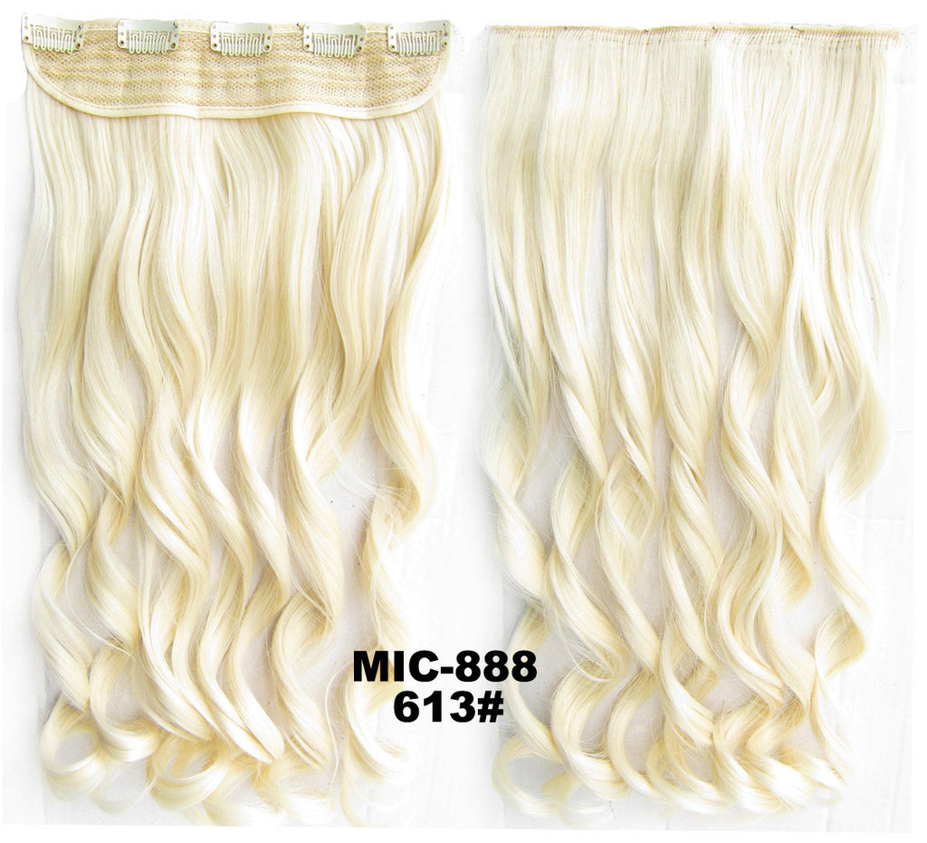 Bath & Beauty 5 Clip in synthetic hair extension hairpieces wavy slice curly hairpiece MIC-888 613#,Hair Care,fashion Cosplay ombre 1PCS