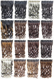 Bath&Beauty Clip in synthetic hair extension hairpieces 5 clips in on wavy slice curly hairpiece GS-888 1#,Hair Care,fashion COSPLAY ombre 1PCS