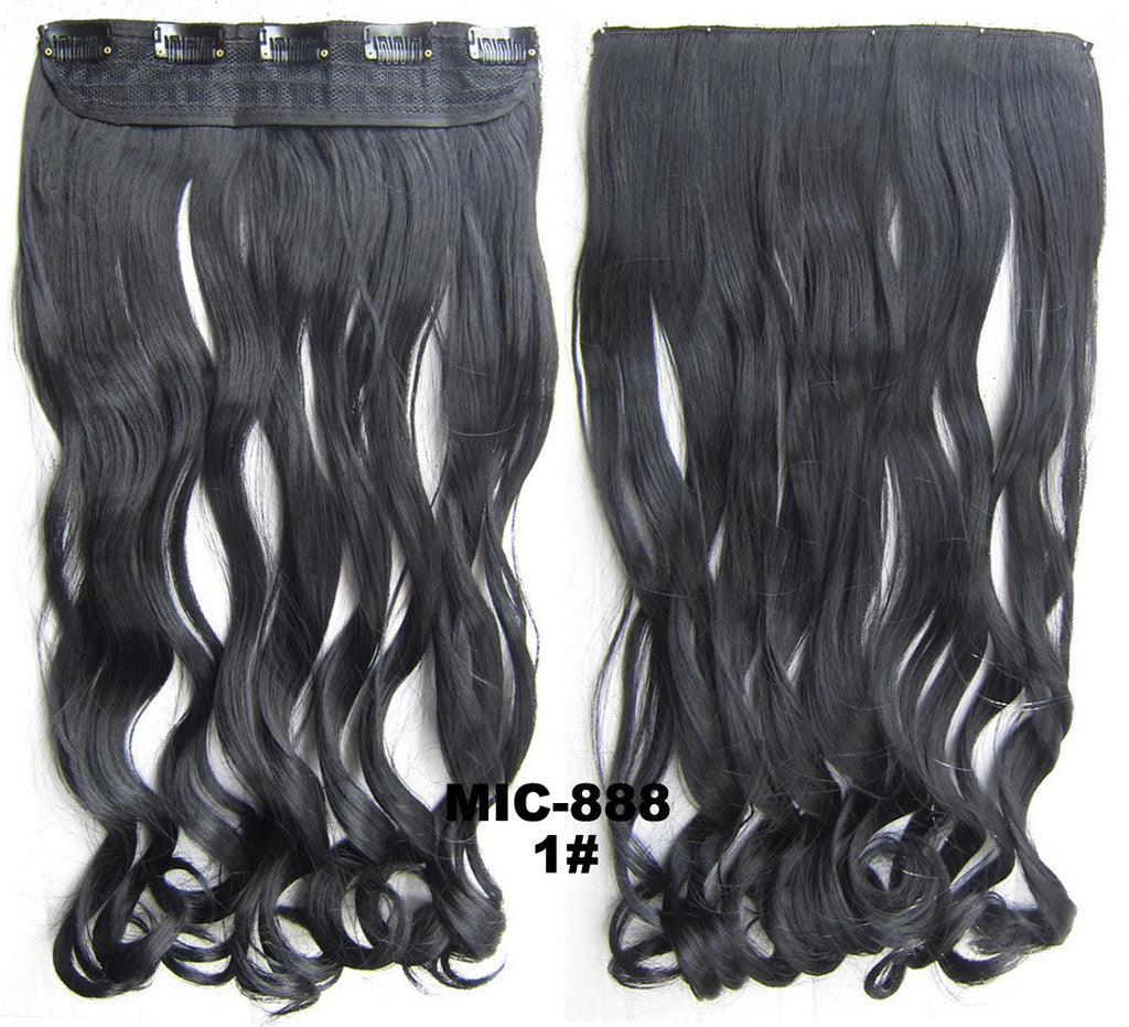 Bath Beauty 5 Clip In Synthetic Hair Extension Hairpieces Wavy
