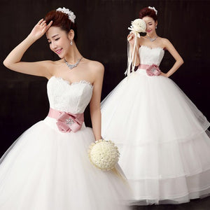 A-Line Appliques Backless Ball Gown Beading Beads Bowknot Wedding Dress wedding gown Chapel Train Chiffon Court Crystals Embellished Embroidery Bride Dress 192445124