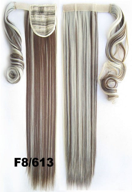 Velcro Wrap Ponytail Hair Extension,Ponytail with band,Ribbon Ponytail,Straight hair,Wig Hairpiece,synthetic hair wig,woman wigs,wig hairs,Bath & Beauty,Accessories BIP-666 F8/613