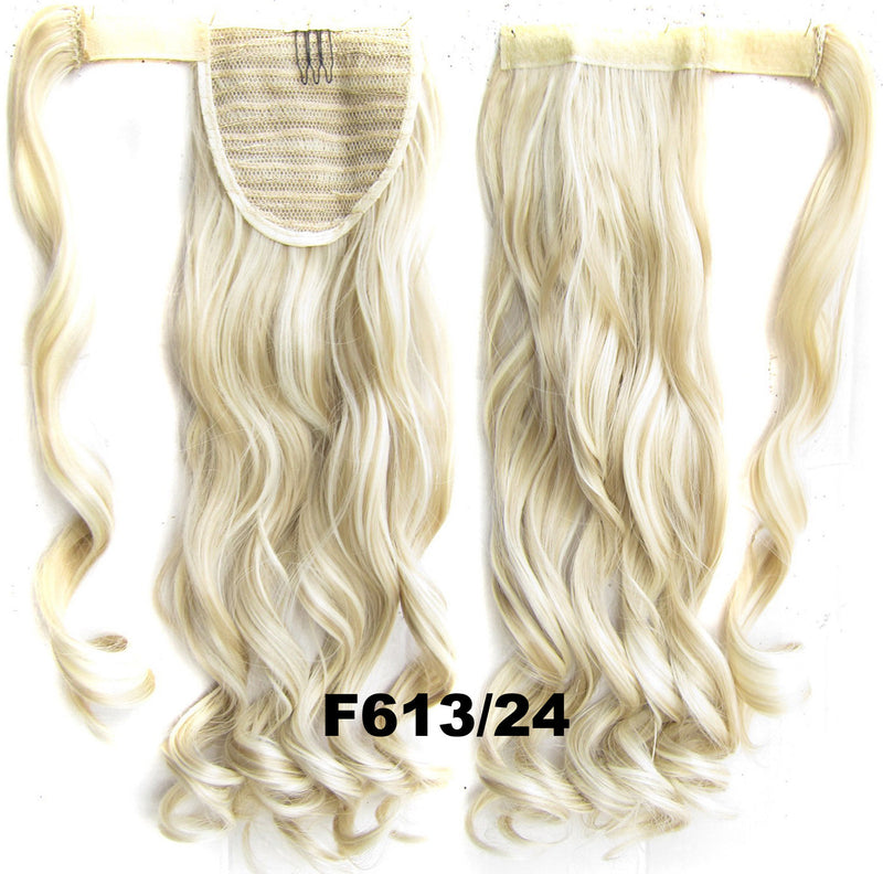Ponytail Hair Extension Heat Proof Synthetic Wrap Around Invisable Long wavy Velcro Ponytail Hair Extension Clip In on Hair Pony Tail,Wig Hairpiece,woman wigs,wig hairs,Bath & Beauty,Accessories BIP-888 F613/24