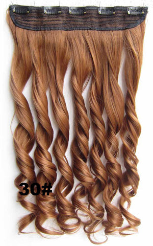 Bath & Beauty fashion Clip in synthetic hair extension hairpieces 5 clips in on wavy slice curly hairpiece GS-888 30#,Hair Care,COSPLAY ombre 1PCS