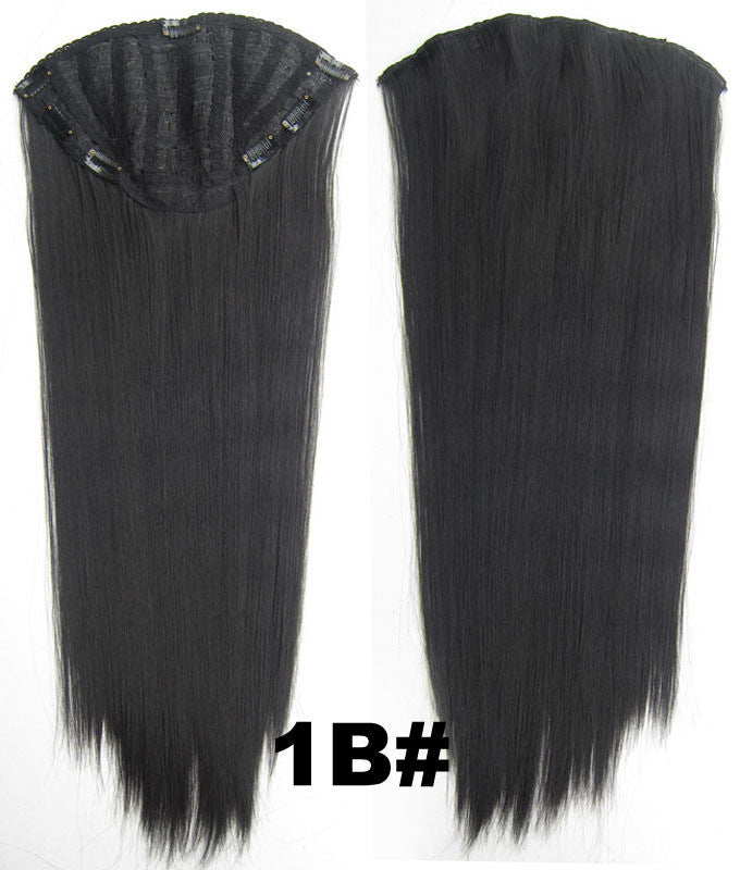 Bath & Beauty 7 Clip in Elastic Cap Wig Straight hair synthetic hair extension hairpieces wavy slice curly hairpiece SCH-666 1B#,Hair Care,fashion Cosplay ombre 1PCS