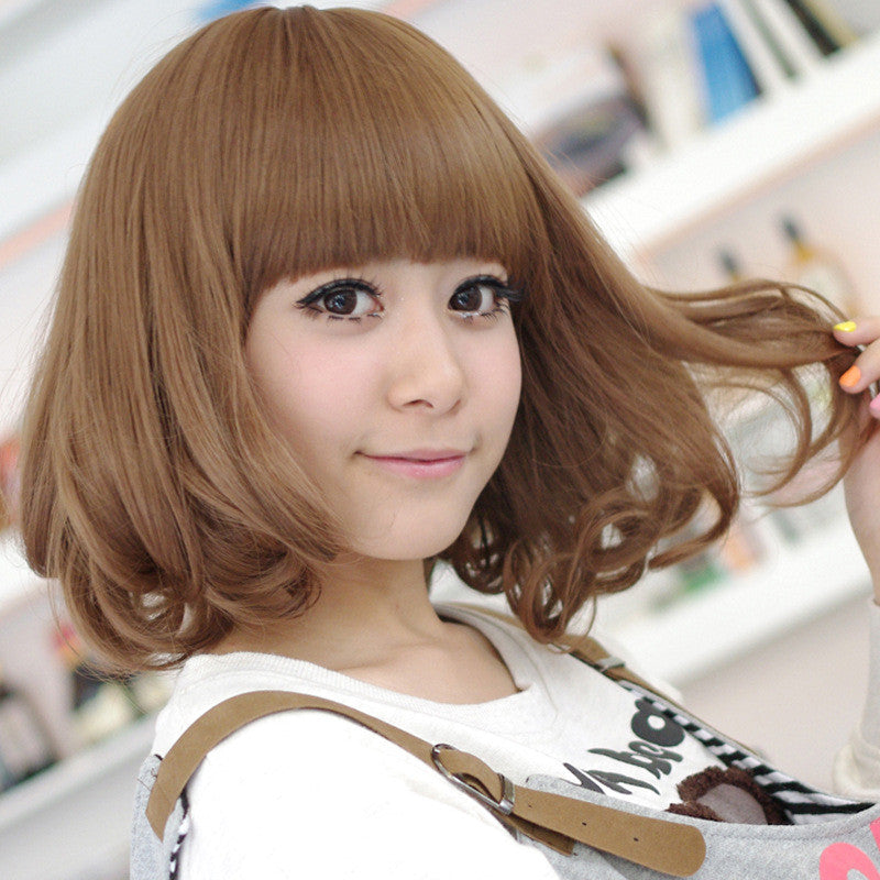 jewelry_wig $ New Fashion Women Hair Korean Bobo Short Curly Wigs Full Synthetic Cosplay