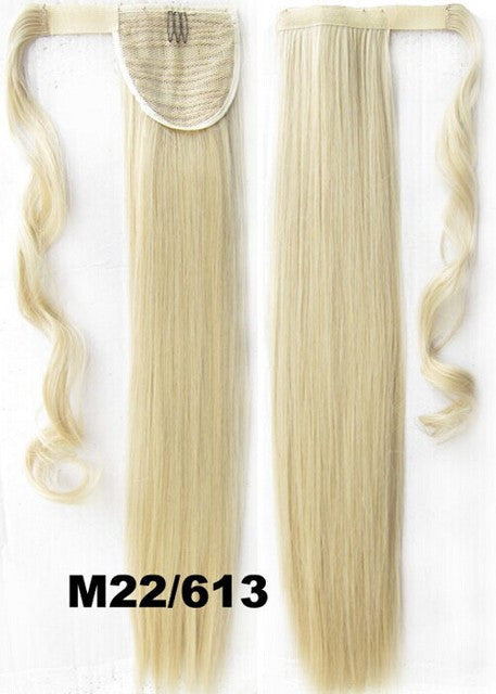 Velcro Wrap Ponytail Hair Extension,Ponytail with band,Ribbon Ponytail,Straight hair,Wig Hairpiece,synthetic hair wig,woman wigs,wig hairs,Bath & Beauty,Accessories BIP-666 M22/613
