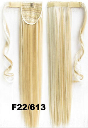 Velcro Wrap Ponytail Hair Extension,Ponytail with band,Ribbon Ponytail,Straight hair,Wig Hairpiece,synthetic hair wig,woman wigs,wig hairs,Bath & Beauty,Accessories BIP-666 F22/613