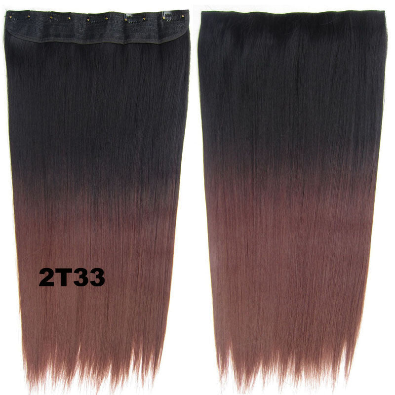 Dip Dye Hairpieces New Fashion 24 Women Clip In On Gradient Wig