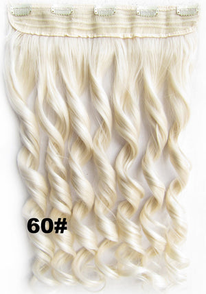 Bath & Beauty fashion Clip in synthetic hair extension hairpieces 5 clips in on wavy slice curly hairpiece GS-888 60#,Hair Care,COSPLAY ombre 1PCS