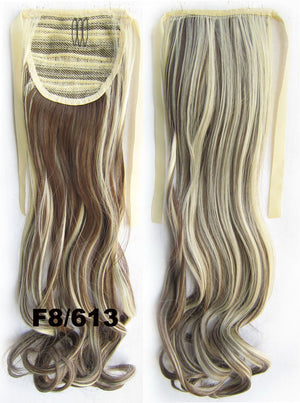 Curly synthetic hair extension,Ribbon ponytail synthetic hair extension Clip In on Hair Pony,Wavy Hairpiece,woman wigs,wig hairs,Accessories,Bath & Beauty RP-888 F8/613