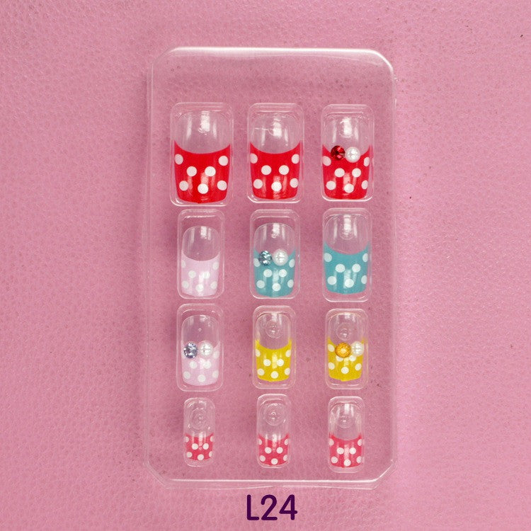Dot 3D carved Manicure tablets False nail Wave Pearl diamond Bride Manicure tablets nail stickers bradawl nail painting L24