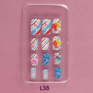 Anchor 3D carved Manicure tablets False nail Cherry Lollipop Pearl diamond Bride Manicure tablets nail stickers bradawl nail painting L38