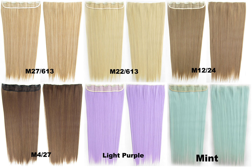 Candy Colors Straight Hair 5 Clip In Marley Braid Hair European And