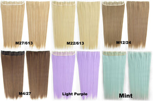Candy colors Straight hair 5 Clip-in Marley Braid Hair European And American Hot Wigs Wholesale Hair Color Piece hairpieces New Fashion Women wig Bath & Beauty Ombre Hair Extensions Colorful Hairpieces GS-666 1#