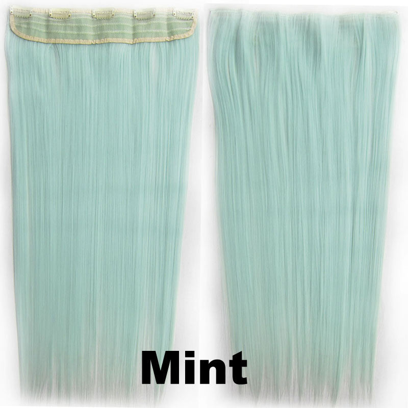 Candy colors 5 Clip-in Marley Braid Hair European And American Hot Wigs Wholesale Hair Color Piece hairpieces New Fashion Women wig Bath & Beauty Ombre Hair Extensions Colorful Hairpieces GS-666 Mint