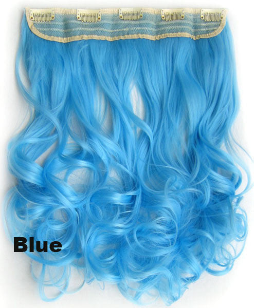 Blue ombre colorful candy clip in hair extensions 1weft5pcs body blue ombre colorful candy clip in hair extensions 1weft5pcs body wave texture hair synthetic hair extension high quality wig u pick pmusecretfo Choice Image