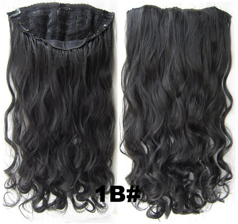 Bath & Beauty 7 Clip in Elastic Cap Wig Curly hair synthetic hair extension hairpieces wavy slice curly hairpiece SCH-888 1B#,Hair Care,fashion Cosplay ombre 1PCS