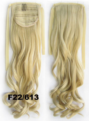 Curly synthetic hair extension,Ribbon ponytail synthetic hair extension Clip In on Hair Pony,Wavy Hairpiece,woman wigs,wig hairs,Accessories,Bath & Beauty RP-888 F22/613