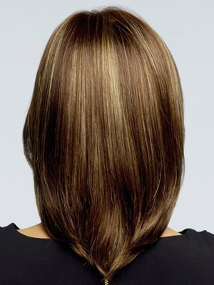 Medusa hair products: Medium length Straight Brown Bob wig for women Synthetic wigs with bangs False hair SW0010